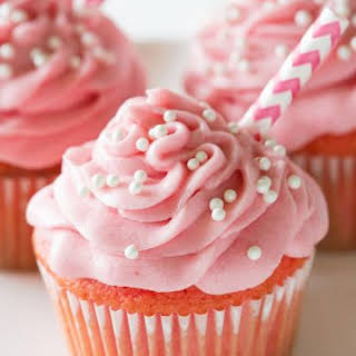 Strawberry Milkshake Cupcakes.