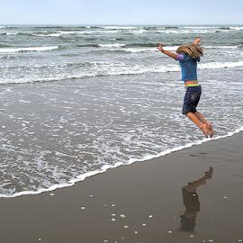 Jumping for Joy by JR Hudson   Scenic Edge - Uncategorized All Uncategorized ( surf, waves, seascapes, ocean, jumping, scenic edge photography, jumping for joy, sea,  )
