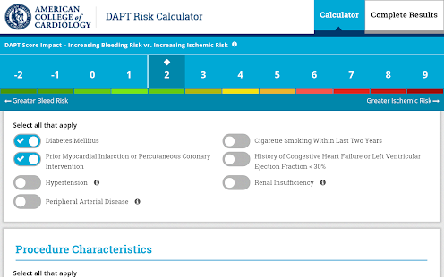 DAPT Risk Calculator- screenshot thumbnail