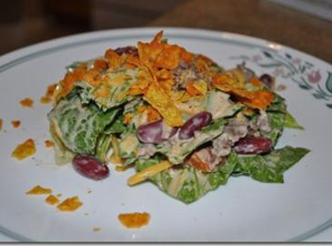 Luncheon Tostada Salad Recipe