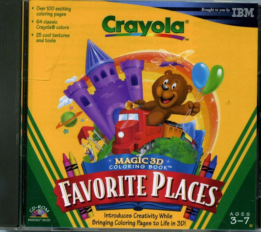 Video game:Crayola Magic 3D Coloring Book: Favorite Places — Google ...