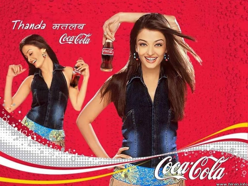 Aishwarya Rai cocacola poster