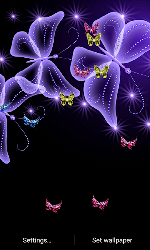 Z5 Neon Butterfly Wallpaper Android App Screenshot