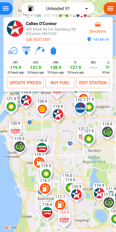 Fuel Map Australia- screenshot