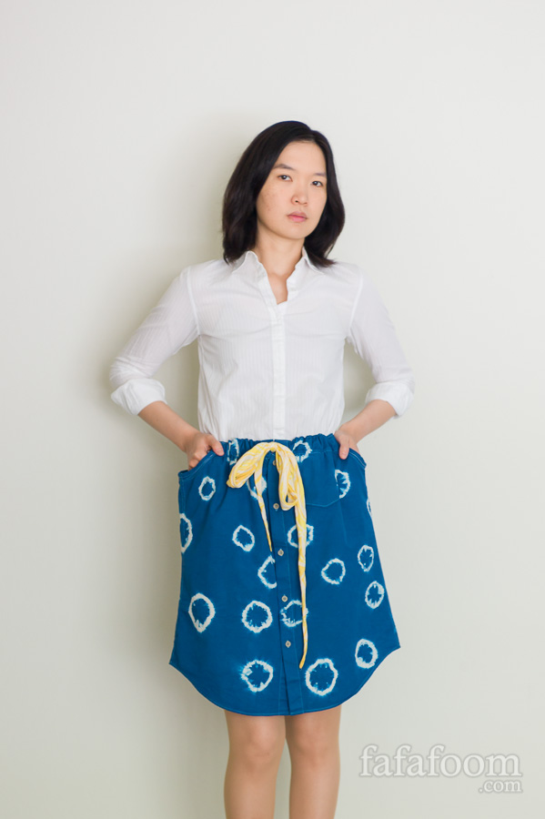 DIY Shibori Dyed Skirt - DIY Fashion Garment | fafafoom.com