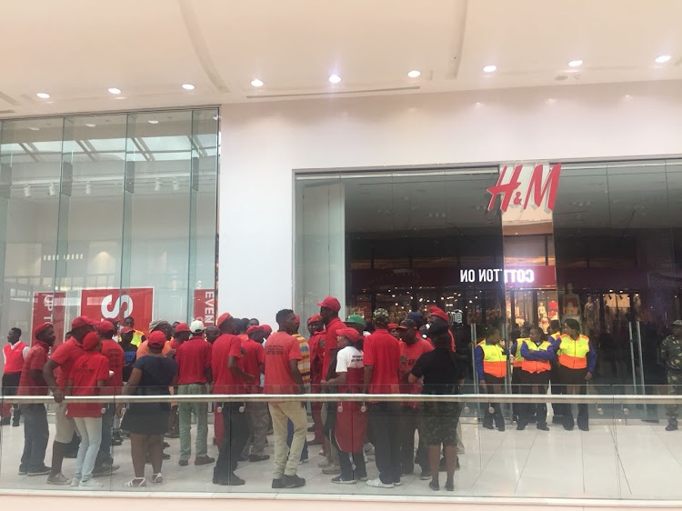 Fidelity Security Services and the South Africa Police Service were deployed to monitor the EFF protest at the Mall of Africa in Midrand.