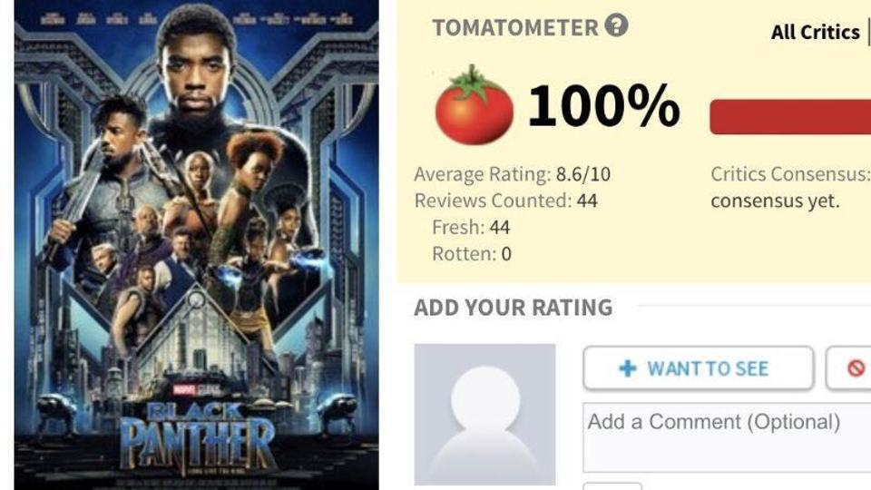 Rotten Tomatoes Black Panther