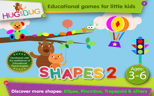 玩免費教育APP|下載Learn Shapes 2 - Hug and Dug app不用錢|硬是要APP