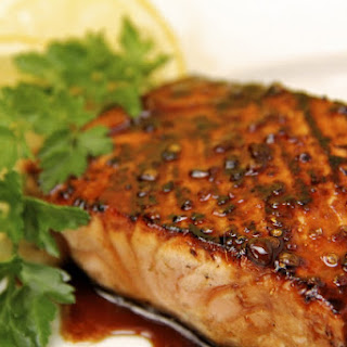 Honey, Ginger and Coriander Glazed Salmon