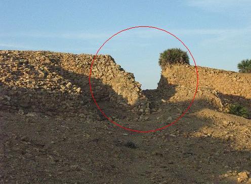corte arqueológico de la muralla