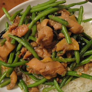 Three Cup Chicken with Green Beans.