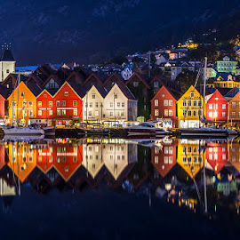 by Atle Rasmussen - Buildings & Architecture Public & Historical ( reflection, reflections, old, bergen, architecture )