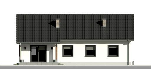 Dom przy Bukowej 20 - Elewacja tylna