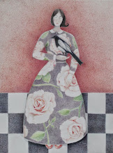Photo: Judith Logan : Rose and The Magpie : 34 x 42cm