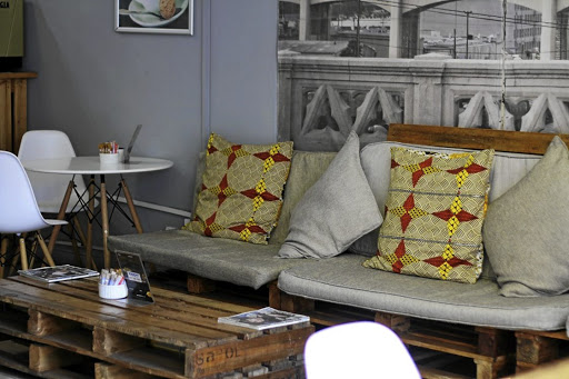 Stylish, comfortable decor at Sihle's Brew Barista Love.