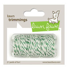 Lawn Fawn Trimmings Hemp Cord 21yd - Green Sparkle
