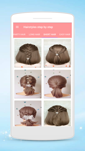 Hairstyles step by step for girls Apk 2