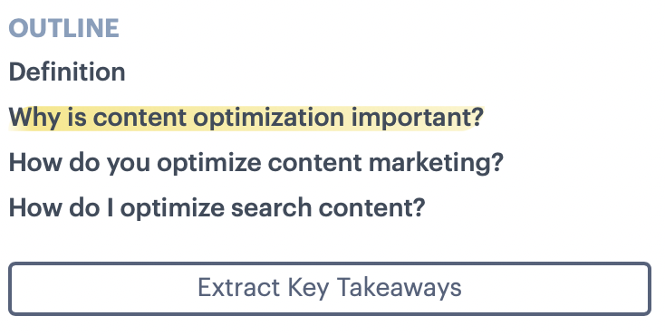 Competitor Content Outline