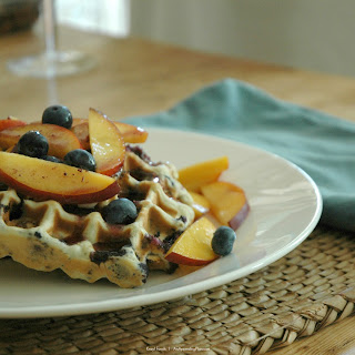 Blueberry Waffle Recipe With Fresh Nectarines