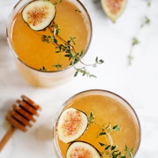 Sparkling Fig & Honey Cocktail.