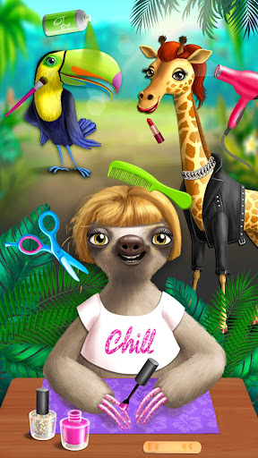 Jungle Animal Hair Salon - Styling Game for Kids android2mod screenshots 4