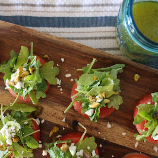 Watermelon Arugula & Pistachio Petite Salads