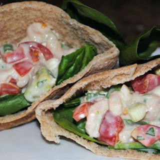 Fresh Mediterranean Shrimp and Avocado Pita Pockets