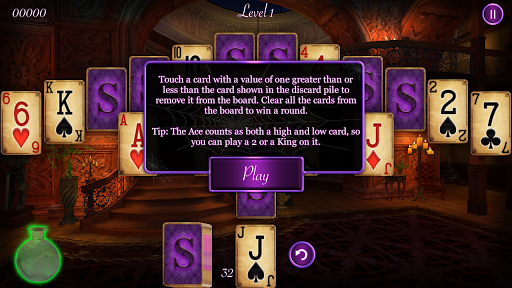 haunted mansion solitaire screenshot 3