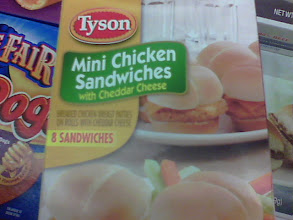 Photo: There were two different kinds of Mini Chicken Sandwiches available: plain Mini Chicken Sandwiches and Mini Chicken Sandwiches with Cheddar Cheese. Since my kids love cheese, I went for these. I had a feeling they'd be a hit.