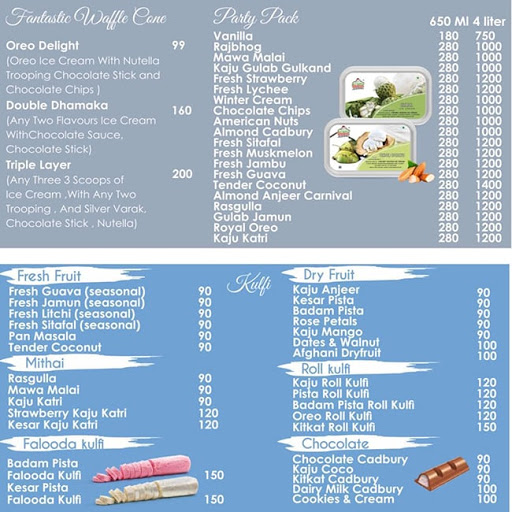 Creamy Heaven menu 3