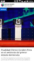 Screenshot of Noticias Univision