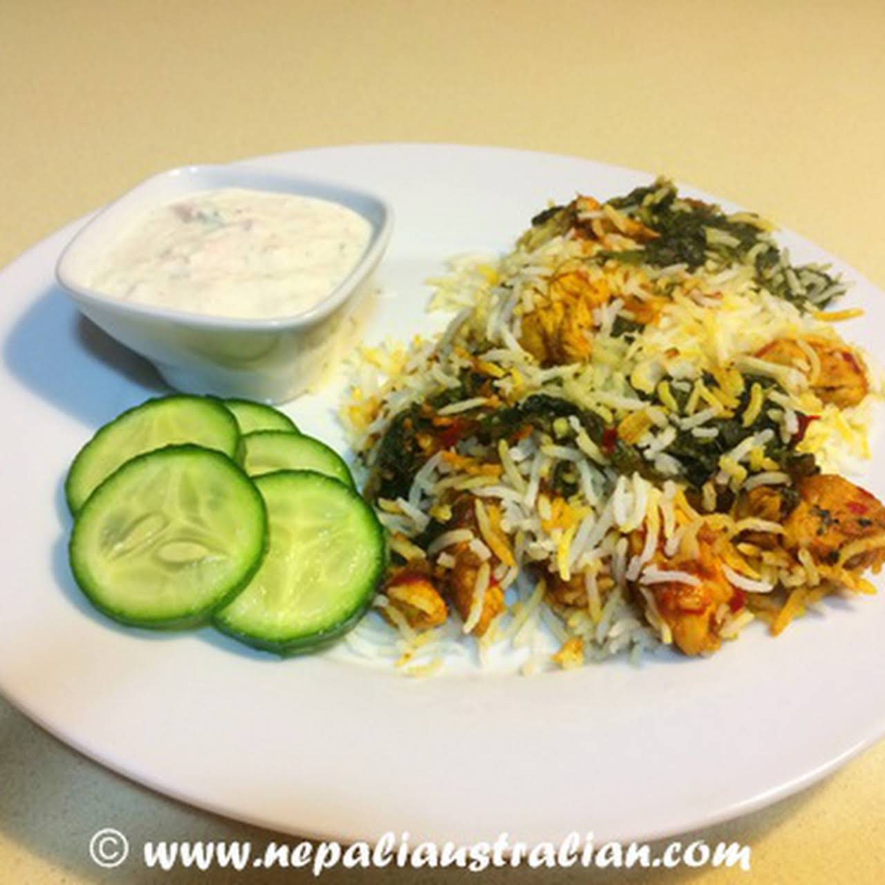 Jamie Oliver inspired chicken and spinach oven baked biryani