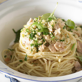 Tuna Pasta with Lemon Crumbs