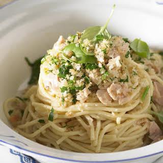 Tuna Pasta with Lemon Crumbs.
