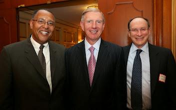Photo: Chief Justice Roderick Ireland, BBA President Paul Dacier, and Justice Ralph Gants (SJC).