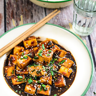 Asian style Garlic Tofu.