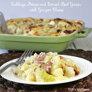 Cabbage, Potato and Corned Beef Gratin.