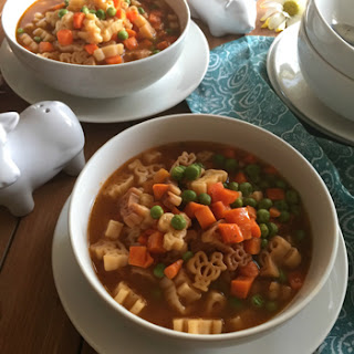 Mexican-Style Pasta Soup for Kids.