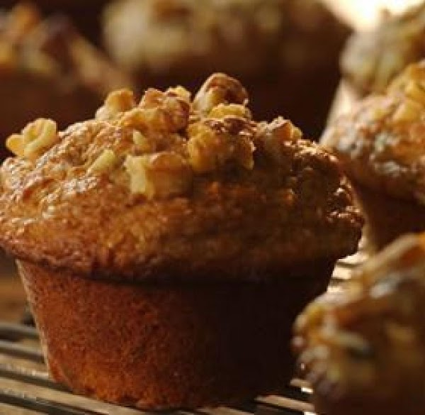 Low-fat Banana Bran Flake Muffins Recipe