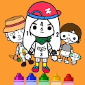 Toca Coloring By Number icon
