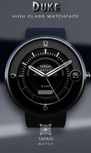 Duke Black wear watch face