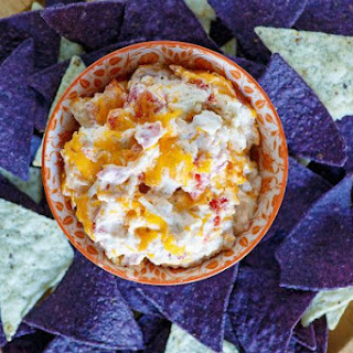 Hot Chicken Enchilada Dip.