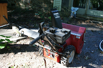 """Photo: My Snapper 24"""" Heavy Duty snow blower with a Techumseah 8HP snow king engine (I may have to get a 10HP HMSK-100 replacement to fit the and run the 4Amp AC/ 3Amp DC alternator)."""