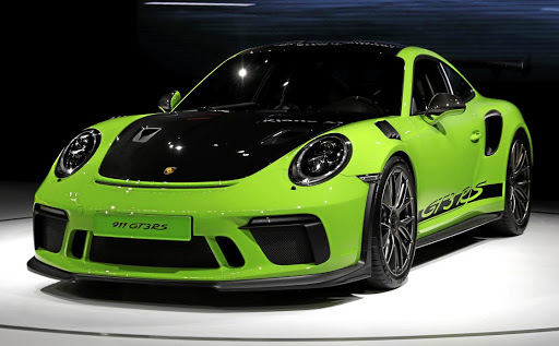 The 2019 Porsche 911 GT3 RS is presented at its world premiere at the New York Auto Show, in Manhattan, New York City, in this file photo. Picture: REUTERS/SHANNON STAPLETON