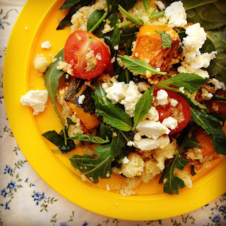 Roast Pumpkin & Feta Couscous Salad.