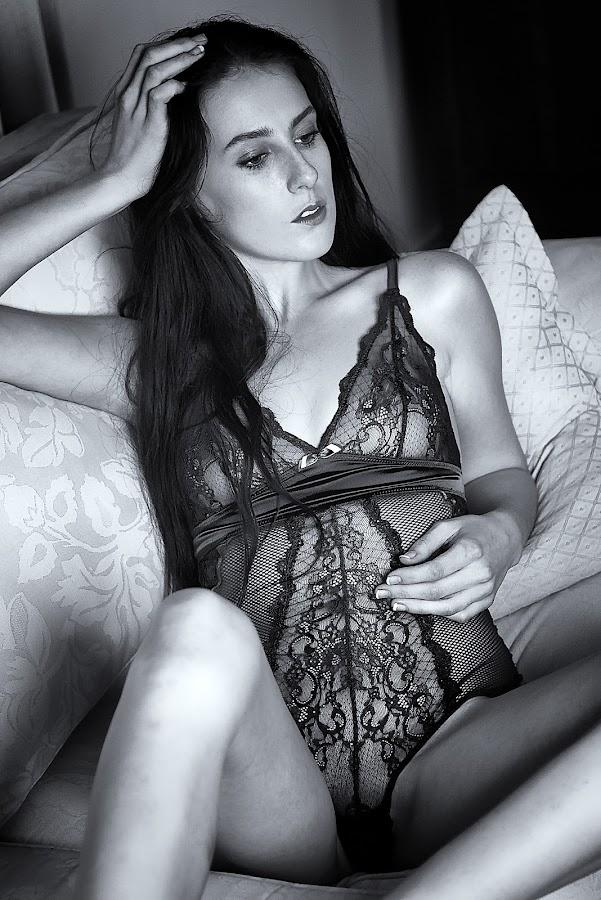Boudior by Pierre Van Der Schyff - Nudes & Boudoir Boudoir ( boudoir photography, sexy, lingerie, black and white, serene, serious )