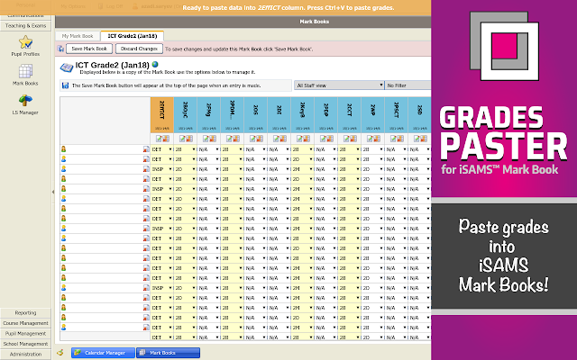 GradesPaster for iSams Mark Book