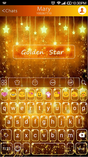 Golden Star -Kitty Keyboard