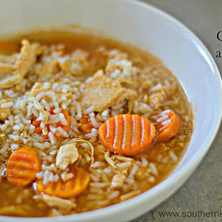 Cajun Chicken and Rice Soup.