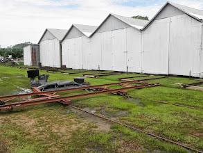 Photo: Boat storage using rails
